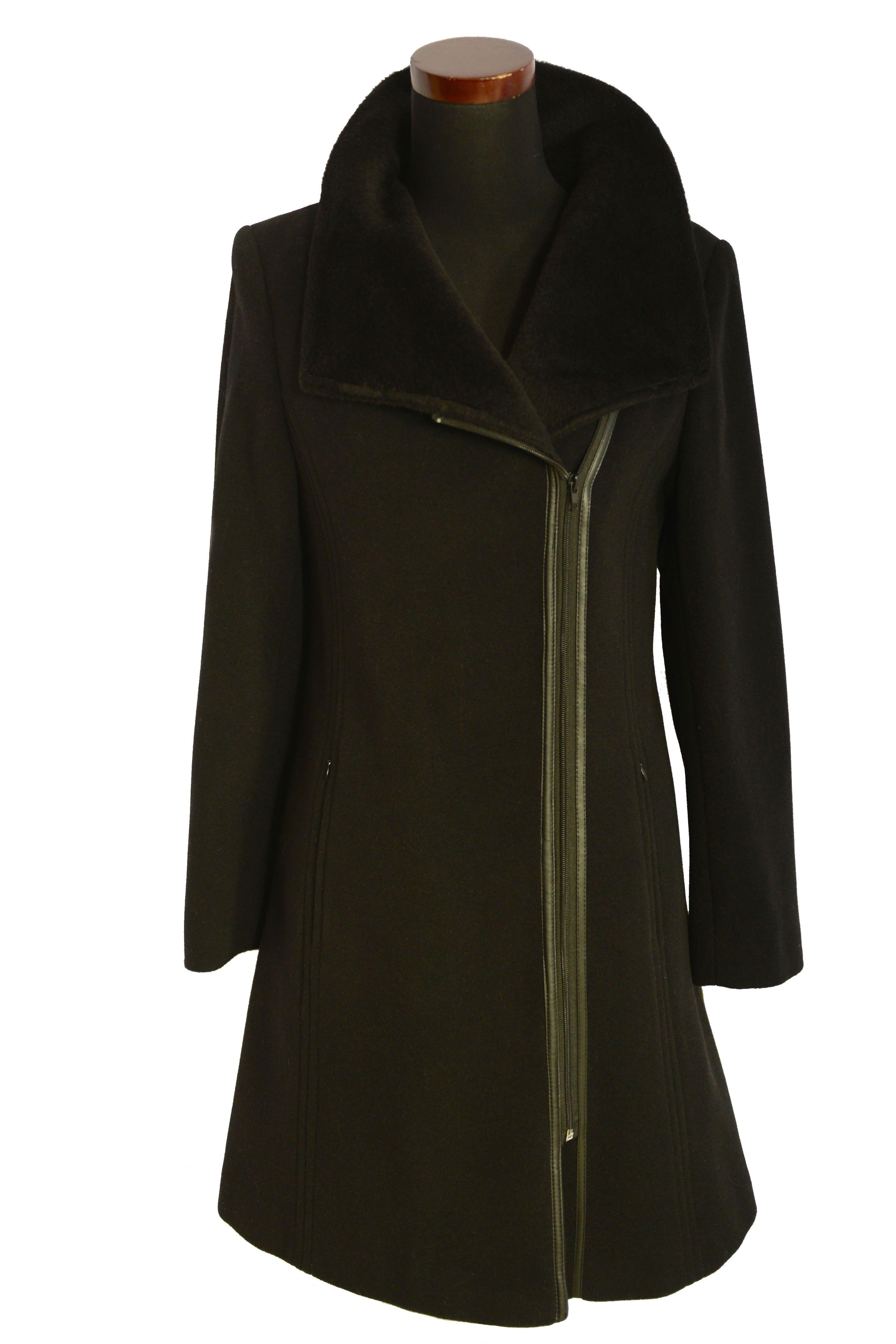 Trojštvrťový dámsky vlnený kabát Jen - kabátyžilina 3c18f6744b9