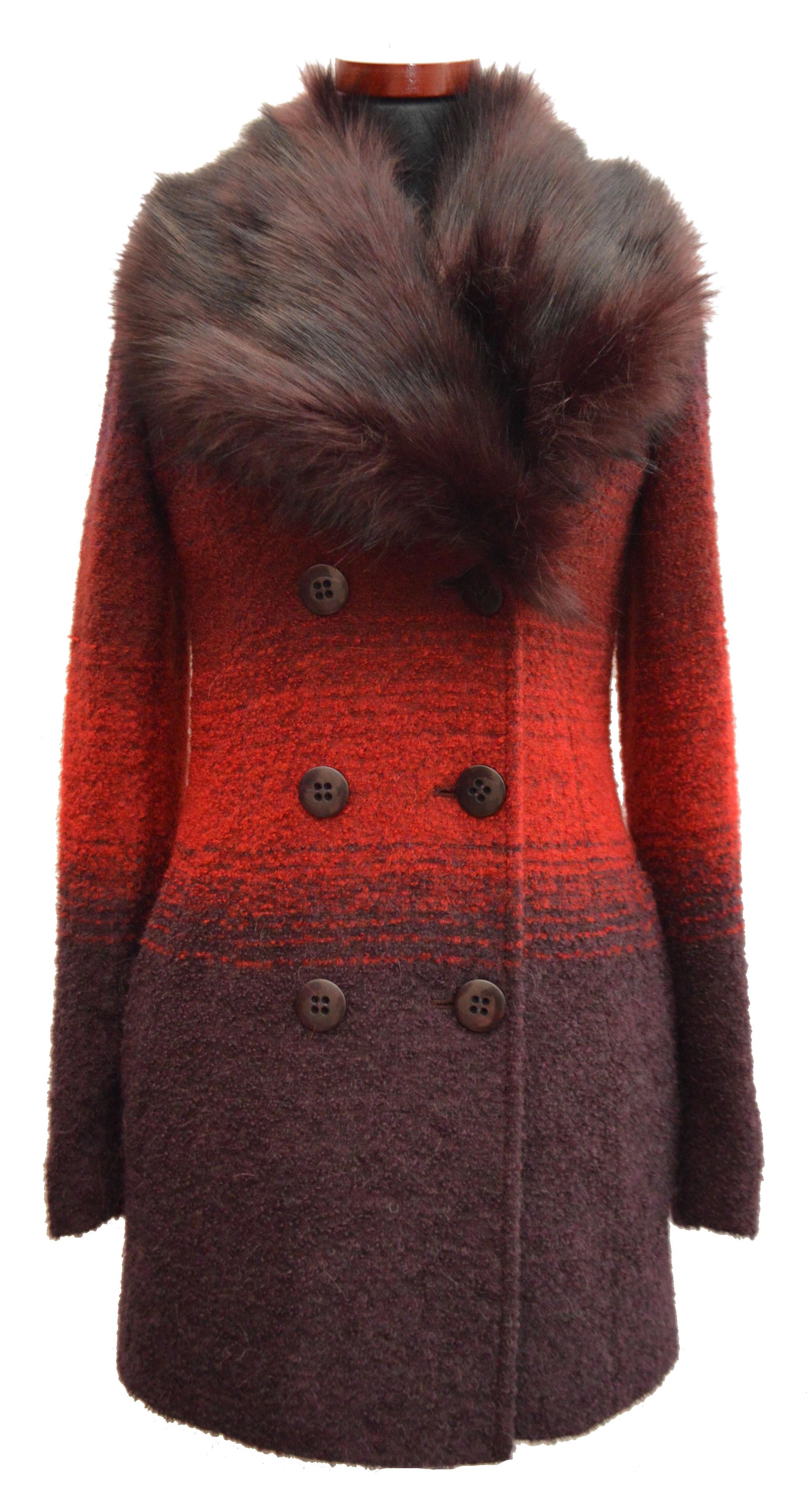 Krátky dámsky vlnený kabát Milka - kabátyžilina e39cb2114d0